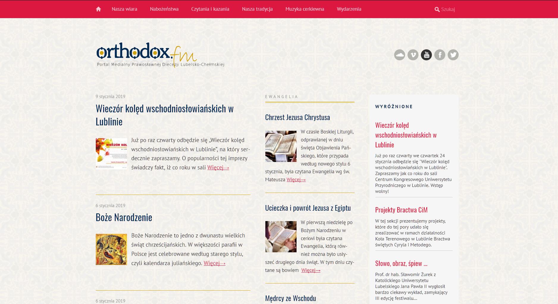 Portal medialny www.orthodox.fm